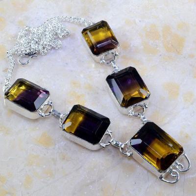 Ame 580a collier parure sautoir ametrine bolivie citrine amethyste achat vente bijou argent 925