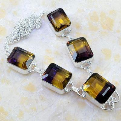 Ame 583a collier parure sautoir ametrine bolivie citrine amethyste achat vente bijou argent 925