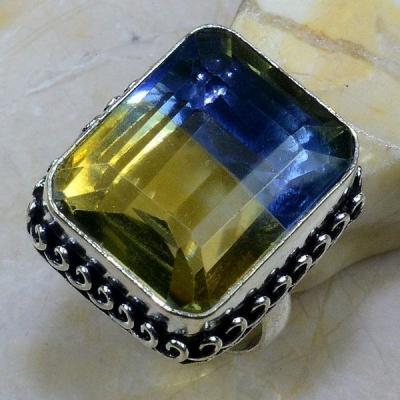 Ame 599a bague t63 ametrine citrine amethyste achat vente bijou monture argent 925