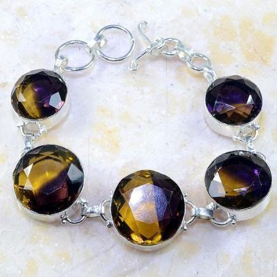 Ame 605a bracelet ametrine citrine amethyste bolivie achat vente bijou monture argent 925