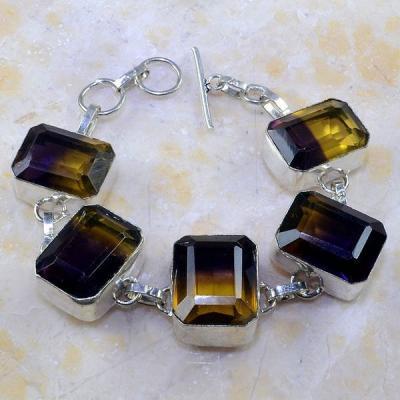 Ame 611a bracelet ametrine citrine amethyste bolivie achat vente bijou monture argent 925