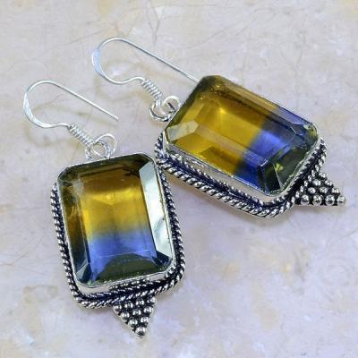 Ame 615b boucles pendants oreilles ametrine achat vente bijou argent 925