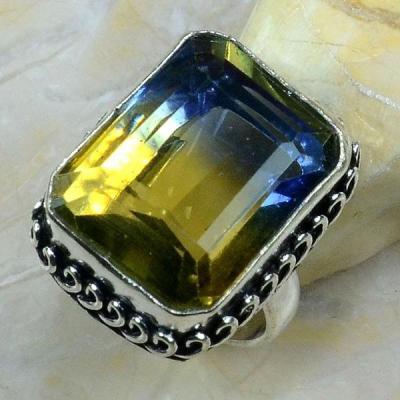 Ame 633a bague t56 ametrine citrine amethyste achat vente bijou monture argent 925