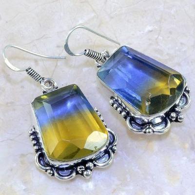 Ame 639a boucles pendants oreilles ametrine achat vente bijou argent 925