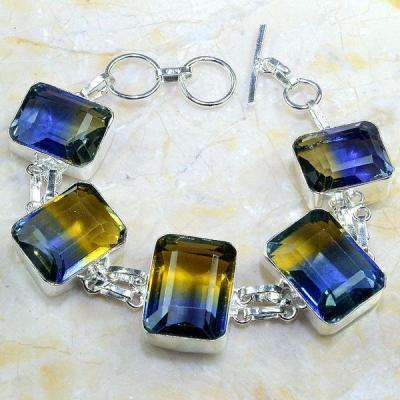 Ame 647a bracelet ametrine citrine amethyste bolivie achat vente bijou monture argent 925