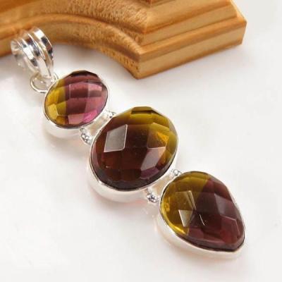 Ame 698a pendentif pendant ametrine citrine amethyste achat vente bijou monture argent 925
