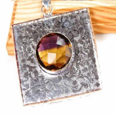 Ame 699a pendentif pendant ametrine citrine amethyste achat vente bijou monture argent 925