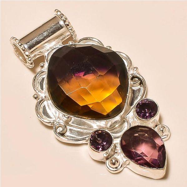 Ame 706a pendentif pendant ametrine amethyste achat vente bijou monture argent 925