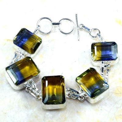 Ame 725a bracelet ametrine citrine bolivie achat vente bijou monture argent 925