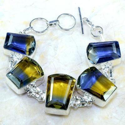 Ame 727a bracelet ametrine bolivie achat vente bijou monture argent 925