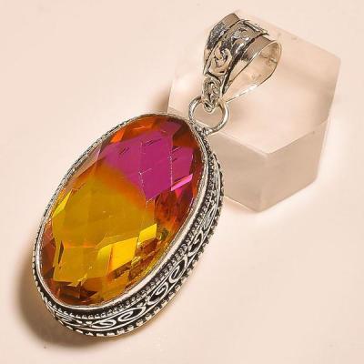 Ame 731a pendentif pendant ametrine ltourmaline achat vente bijou monture argent 925