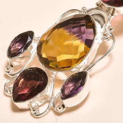 Ame 732b pendentif pendant ametrine amethyste achat vente bijou monture argent 925
