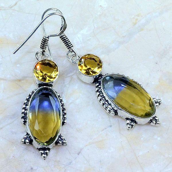 Ame 745a boucles pendants oreilles ametrine citrine achat vente bijou argent 925