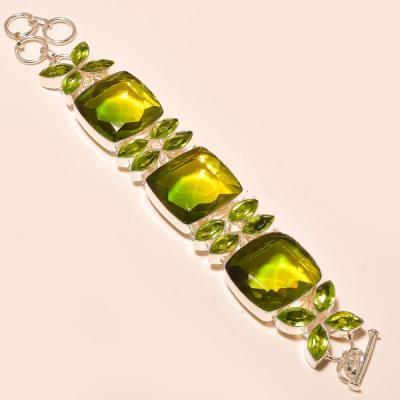 Ame 747a bracelet ametrine lemontrine peridot bolivie achat vente bijou monture argent 925