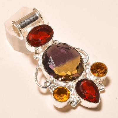 Ame 756a pendentif pendant ametrine citrine grenat achat vente bijou monture argent 925