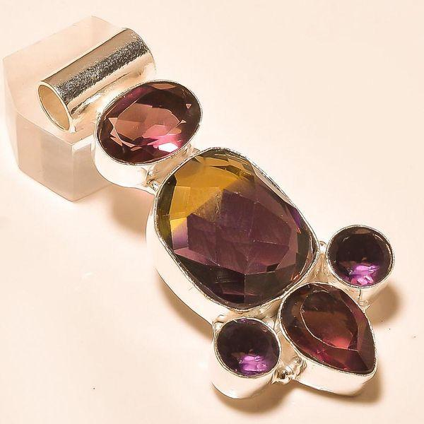 Ame 758a pendentif pendant ametrine amethyste grenat achat vente bijou monture argent 925