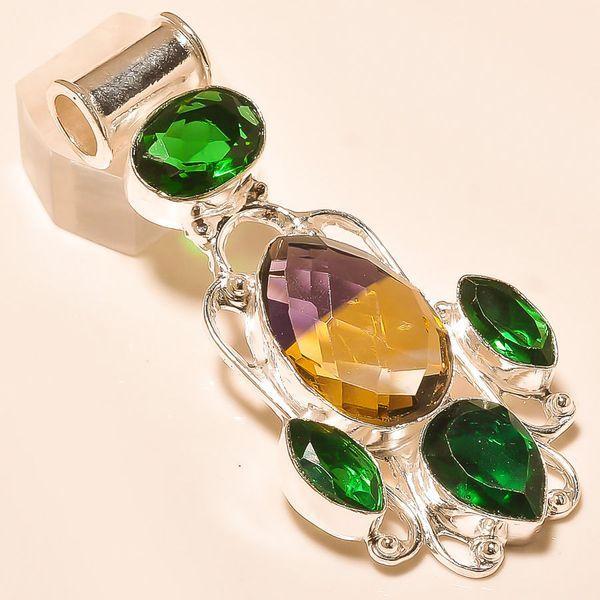 Ame 759a pendentif pendant ametrine peridot quartz achat vente bijou monture argent 925