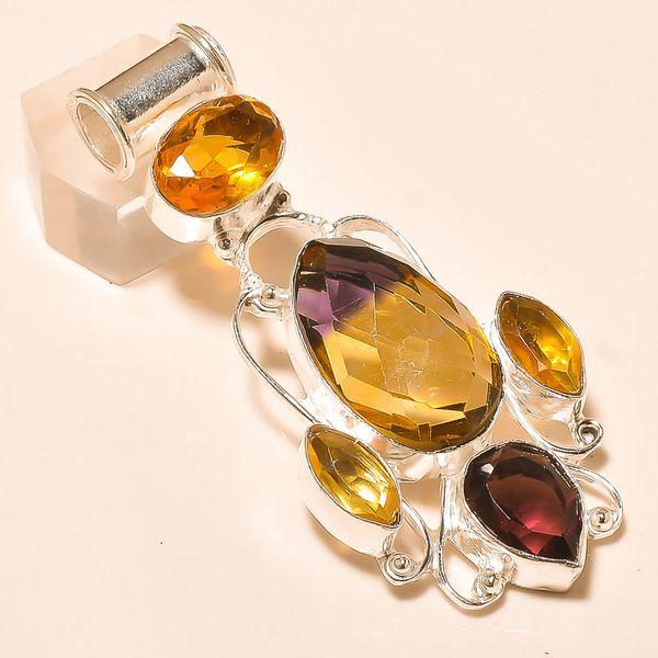Ame 760a pendentif pendant ametrine citrine amethyste achat vente bijou monture argent 925