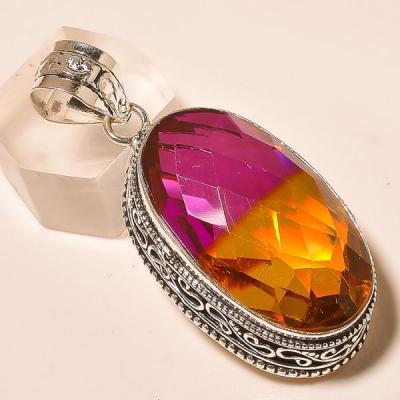 Ame 766a pendentif pendant ametrine tourmaline achat vente bijou monture argent 925