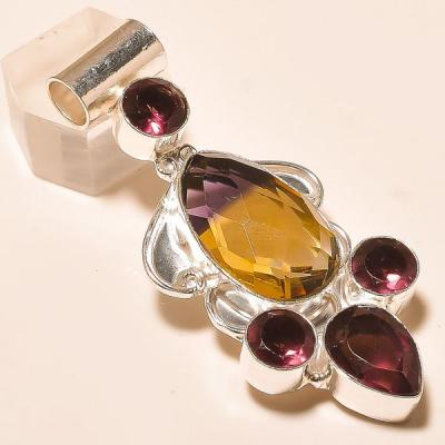 Ame 767a pendentif pendant ametrine amethyste achat vente bijou monture argent 925