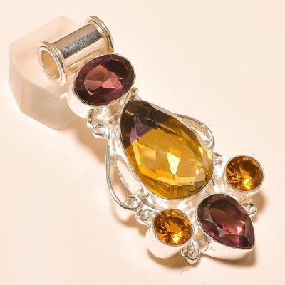 Ame 783a bague t60 ametrine amethyste citrine achat vente bijou monture argent 925