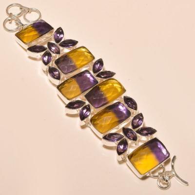 Ame 786a bracelet ametrine bolivie amethyste achat vente bijou monture argent 925
