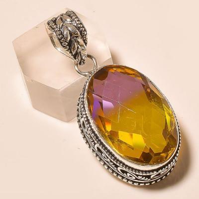 Ame 787a pendentif pendant ametrine citrine achat vente bijou monture argent 925