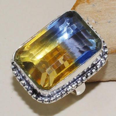 Ame 789a bague t54 ametrine amethyste citrine achat vente bijou monture argent 925
