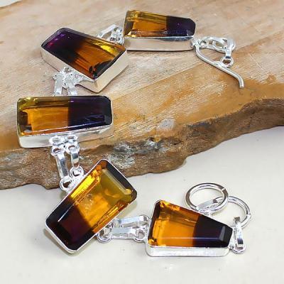 Ame 804a bracelet ametrine bolivie achat vente bijou monture argent 925