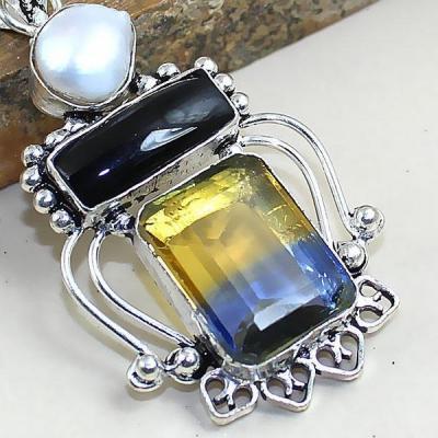 Ame 806c pendentif onyx perle ametrine bolivie achat vente bijou monture argent 925