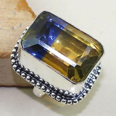 Ame 816b bague t53 ametrine amethyste citrine achat vente bijou monture argent 925