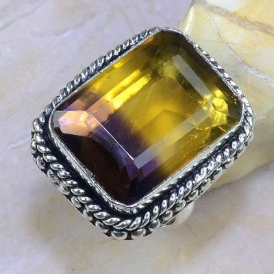 Ame 819a bague t60 ametrine amethyste citrine achat vente bijou monture argent 925