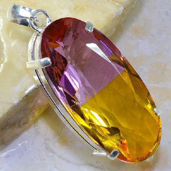 Ame 824a pendentif pendant ametrine pierre gemme lithotherapie reiki achat vente mineraux