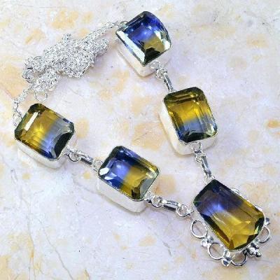 Ame 826a collier sautoir parure ametrine bolivie achat vente bijou monture argent 925