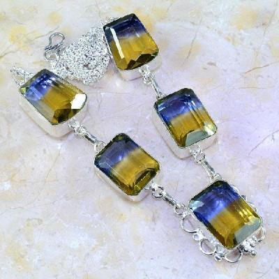 Ame 827a collier sautoir parure ametrine bolivie achat vente bijou monture argent 925