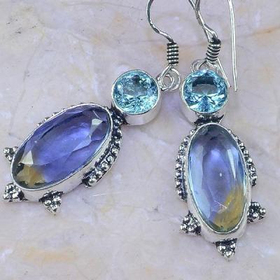 Ame 828b boucles pendants oreilles ametrine topaze achat vente bijou argent 925