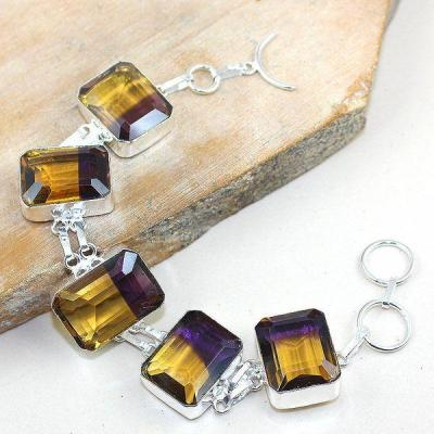 Ame 834a bracelet ametrine bolivie achat vente bijou monture argent 925