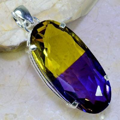 Ame 848a pendentif pendant ametrine pierre lithotherapie reiki achat vente mineraux 1