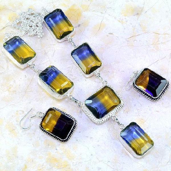 Ame 851a collier boucles parure ametrine amethyste achat vente bijou argent 925