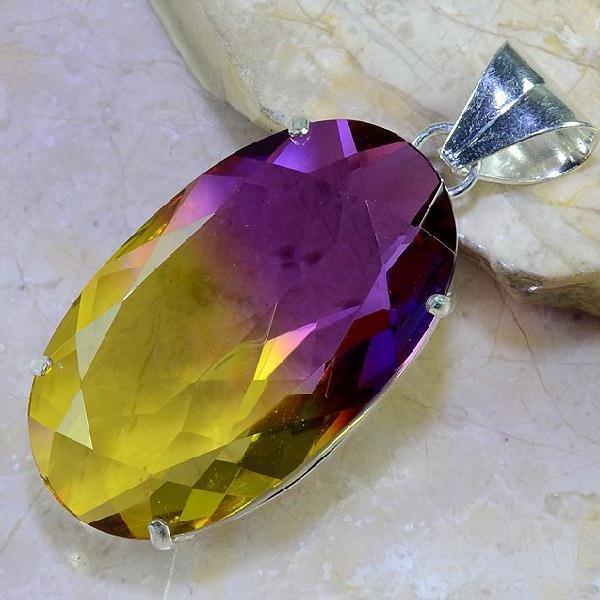 Ame 853a pendentif pendant ametrine pierre lithotherapie reiki achat vente mineraux 1