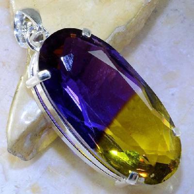 Ame 862a pendentif pendant ametrine pierre lithotherapie reiki achat vente mineraux