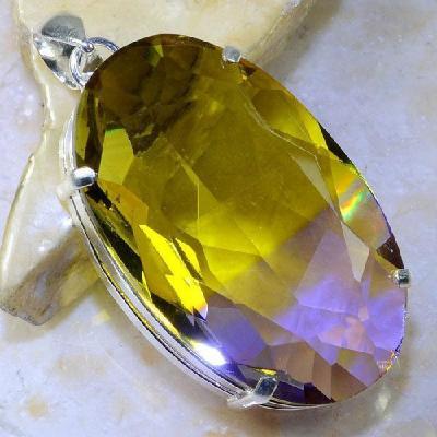 Ame 863a pendentif pendant ametrine pierre lithotherapie reiki achat vente mineraux