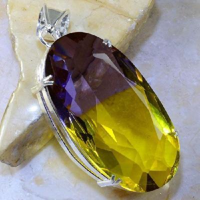 Ame 864a pendentif pendant ametrine pierre lithotherapie reiki achat vente mineraux