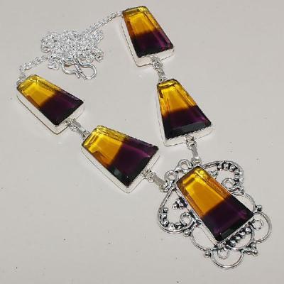 Ame 866a collier sautoir parure ametrine bolivie achat vente bijou monture argent 925
