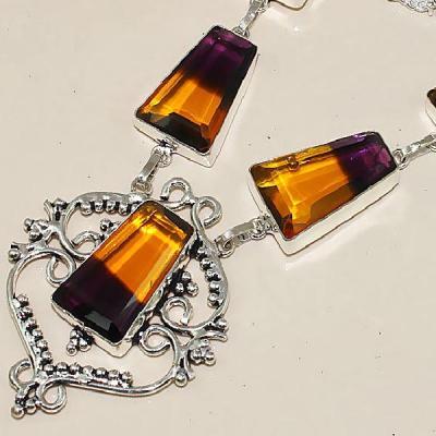 Ame 867b collier sautoir parure ametrine bolivie achat vente bijou monture argent 925