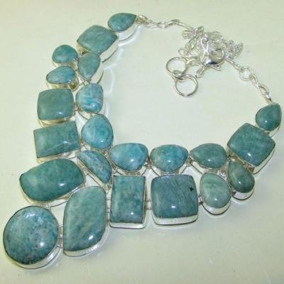 Amz 002a collier parure amazonite achat vente bijou argent 925