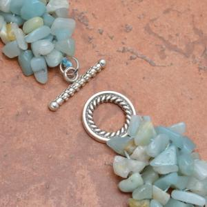 Amz 003b collier parure amazonite achat vente bijou argent 925