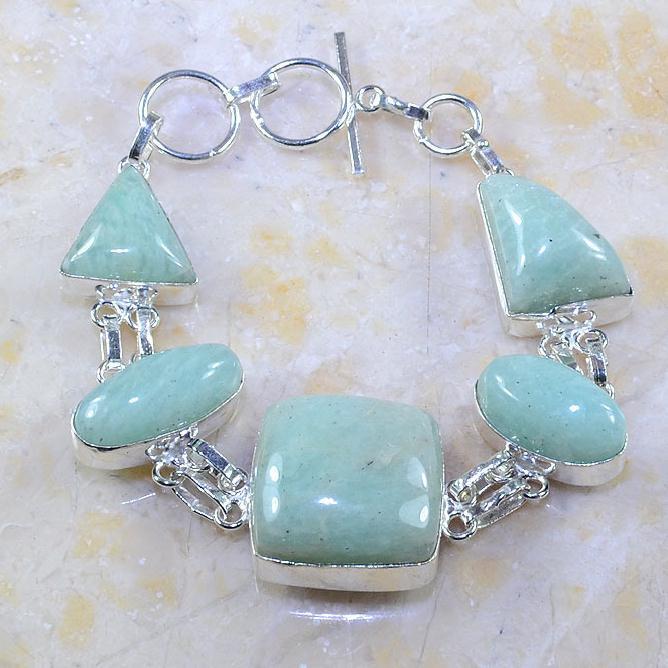 Amz 015a bracelet amazonite achat vente bijou lithotherapie argent 925