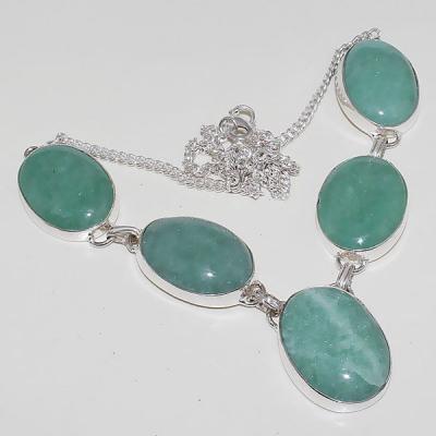Amz 082a collier parure sautoir amazonite achat vente bijou argent 925
