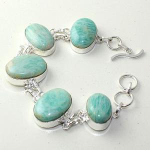 Amz 144a bracelet baroque amazonite 34gr achat vente bijou monture argent 925